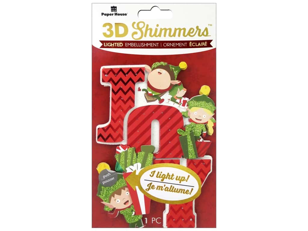 Paper House Sticker 3D LED Shimmer Elf Joy