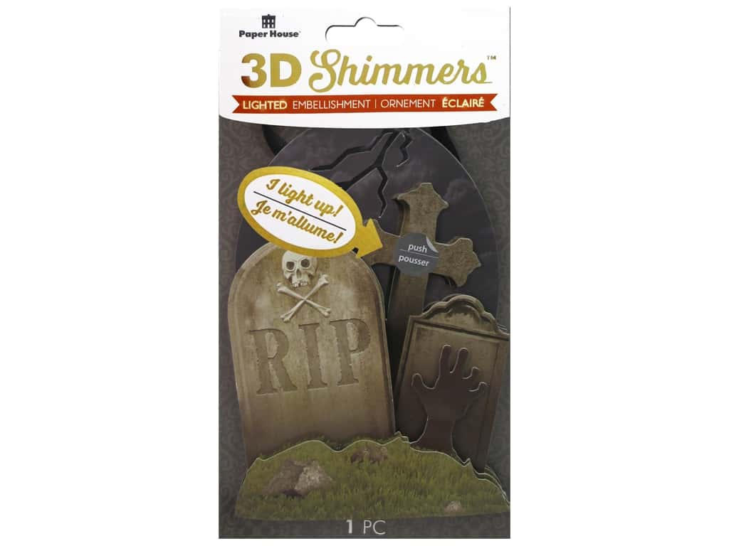 Paper House 3D Shimmers Stickers - Graveyard