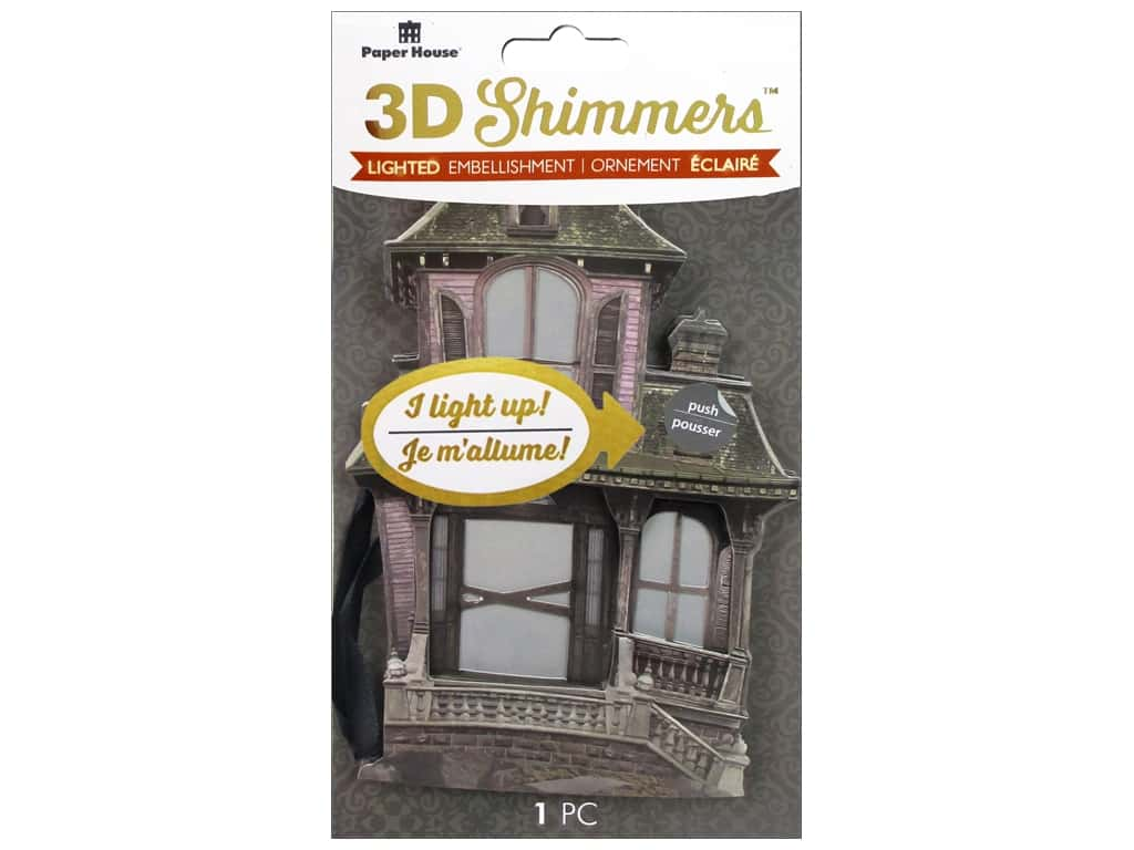 Paper House Sticker 3D LED Shimmer Haunted House