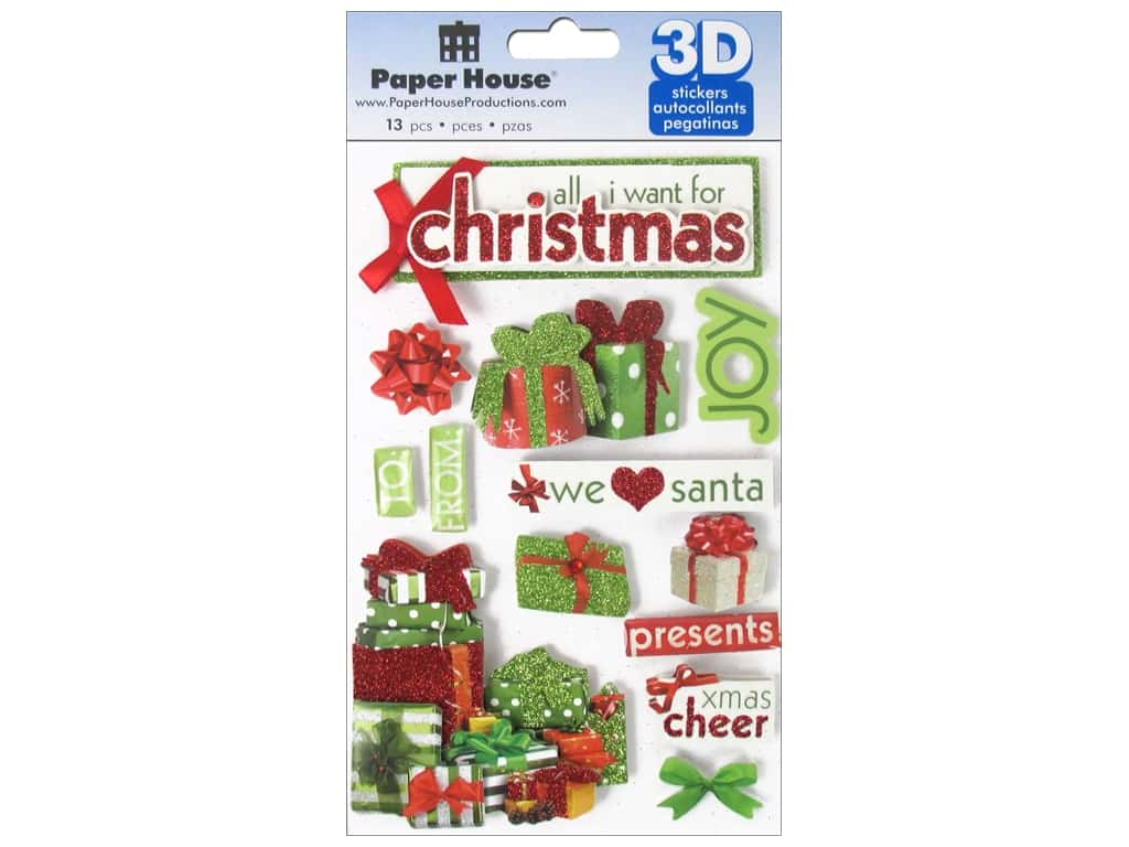 Paper House Sticker 3D All I Want For Christmas