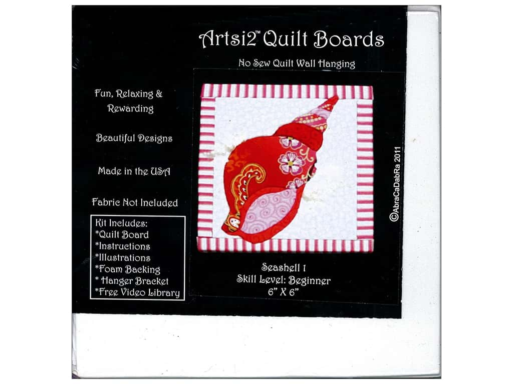 Artsi2 Quilt Board No Sew Quilt Wall Hanging Kit 6 x 6 in. Seashell #1