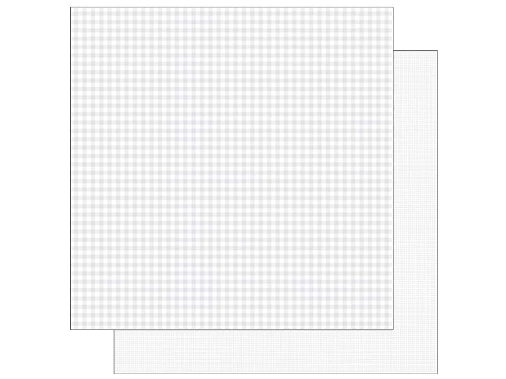 Doodlebug 12 x 12 in. Paper Petite Prints Gingham Linen Lily White (25 sheets)