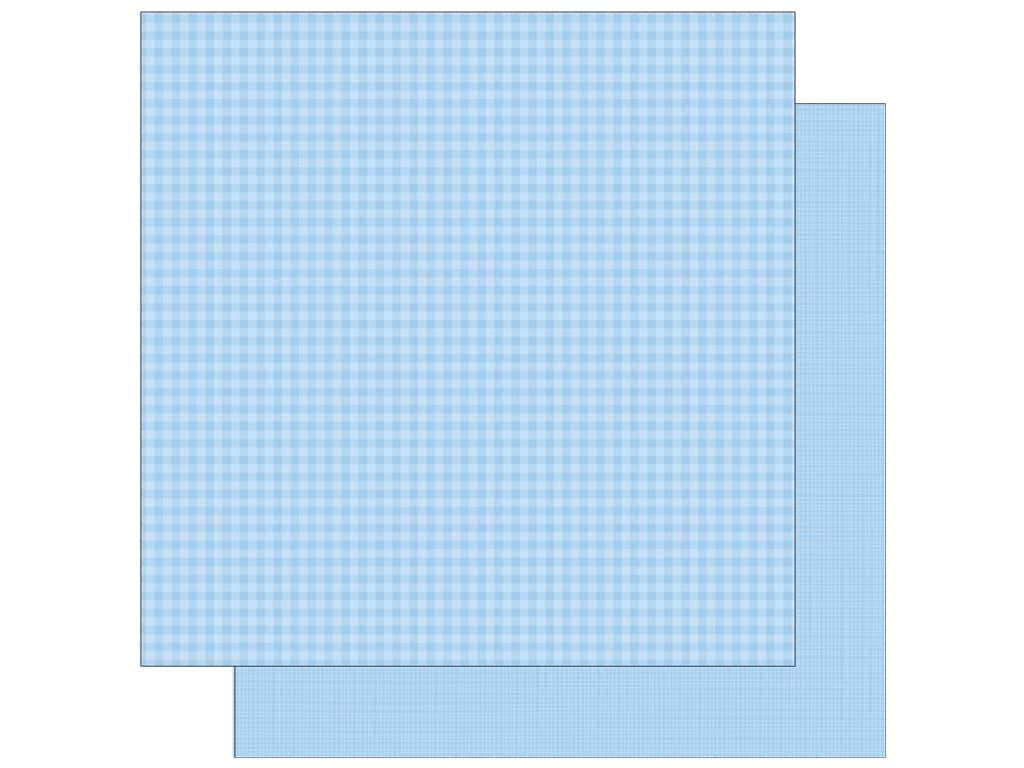 Doodlebug 12 x 12 in. Paper Petite Prints Gingham Linen Bubble Blue (25 sheets)