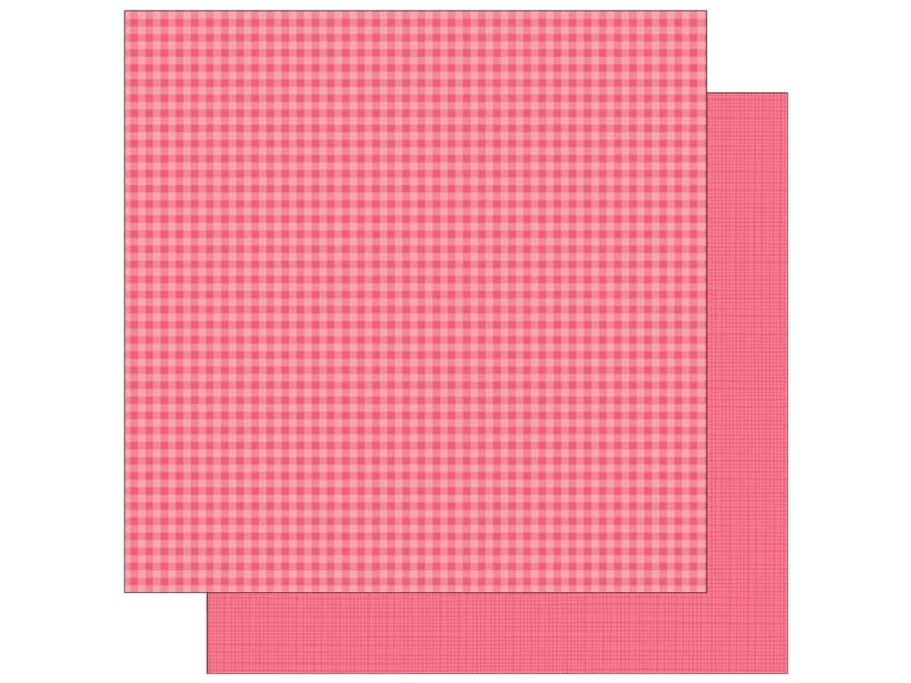 Doodlebug 12 x 12 in. Paper Petite Prints Gingham Linen Cherry (25 sheets)