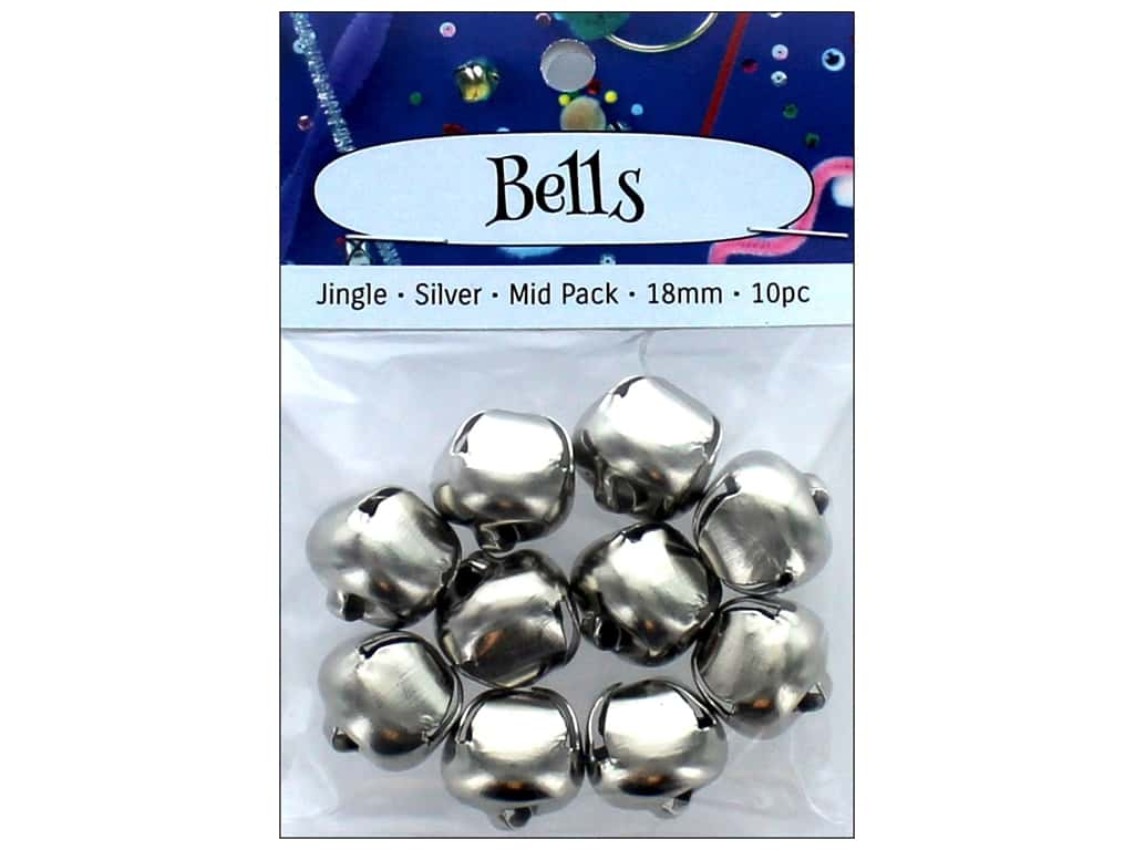 PA Essentials Jingle Bells 3/4 in. 10 pc. Silver