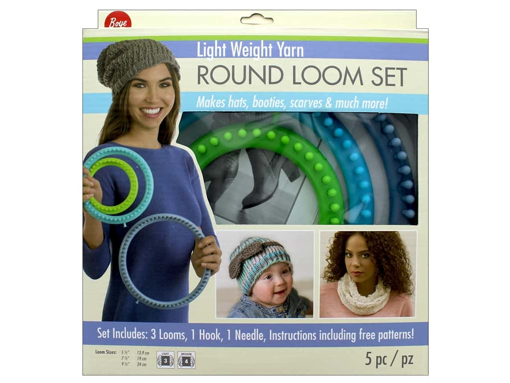 Boye Light Weight Yarn Round Loom Set