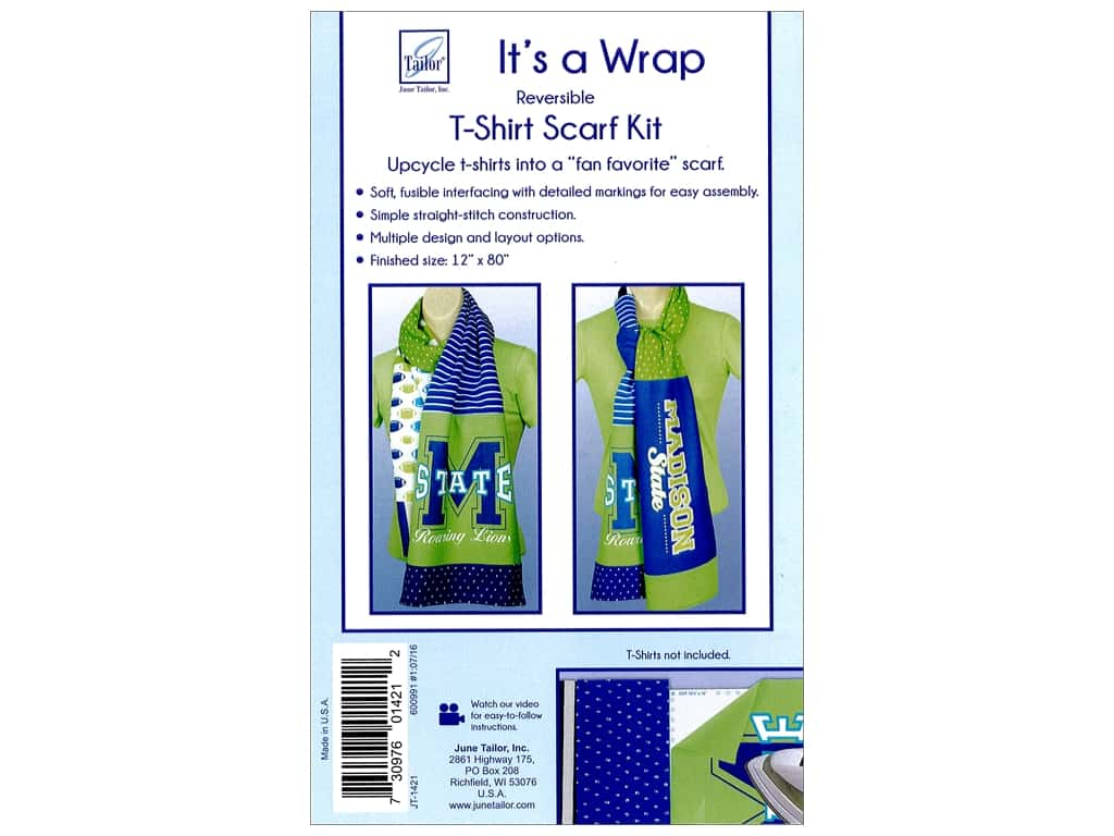 June Tailor Kit It's A Wrap T-shirt Scarf Straight