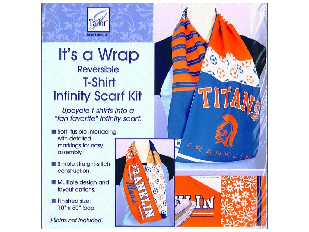 June Tailor Kit It's A Wrap t-shirt Scarf Infinity