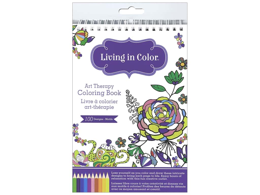 Multicraft Living In Color Art Therapy Azteca Coloring Book