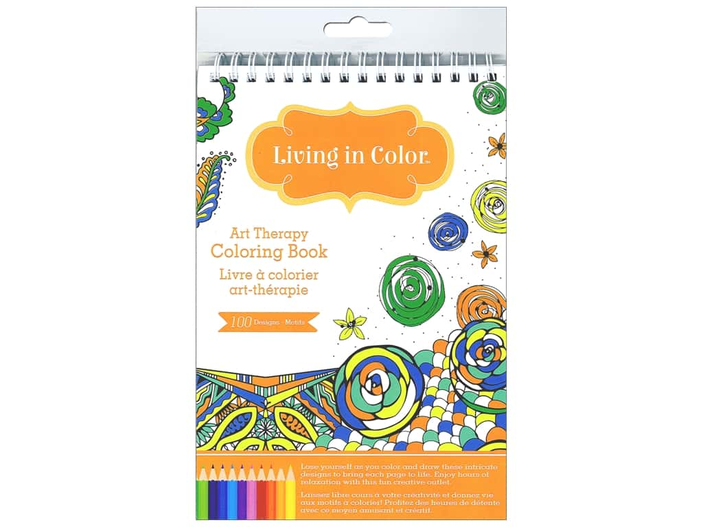 Multicraft Living In Color Art Therapy Abstract Coloring Book