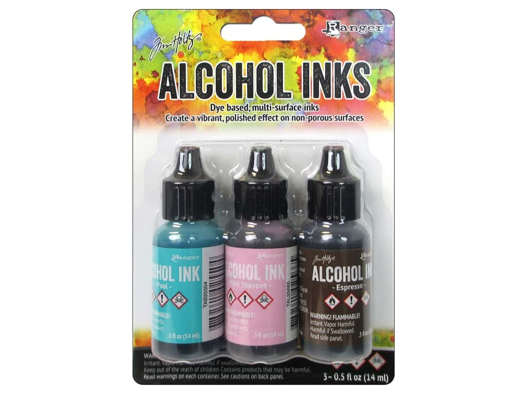 Tim Holtz Alcohol Ink by Ranger .5 oz. Retro Cafe 3 pc.
