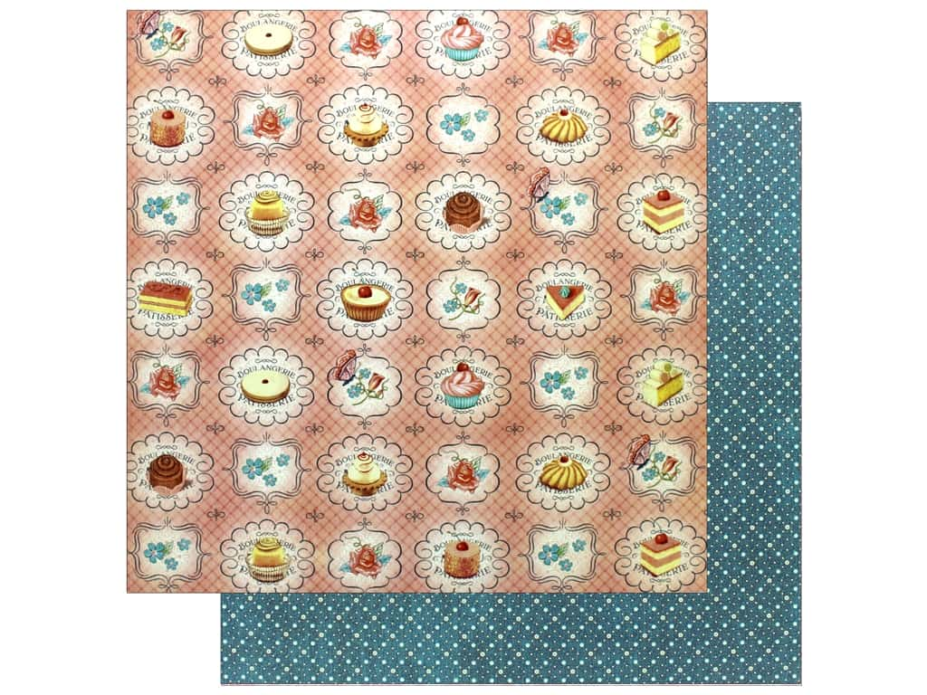 Graphic 45 12 x 12 in. Paper Cafe Parisian Upper Crust (25 sheets)