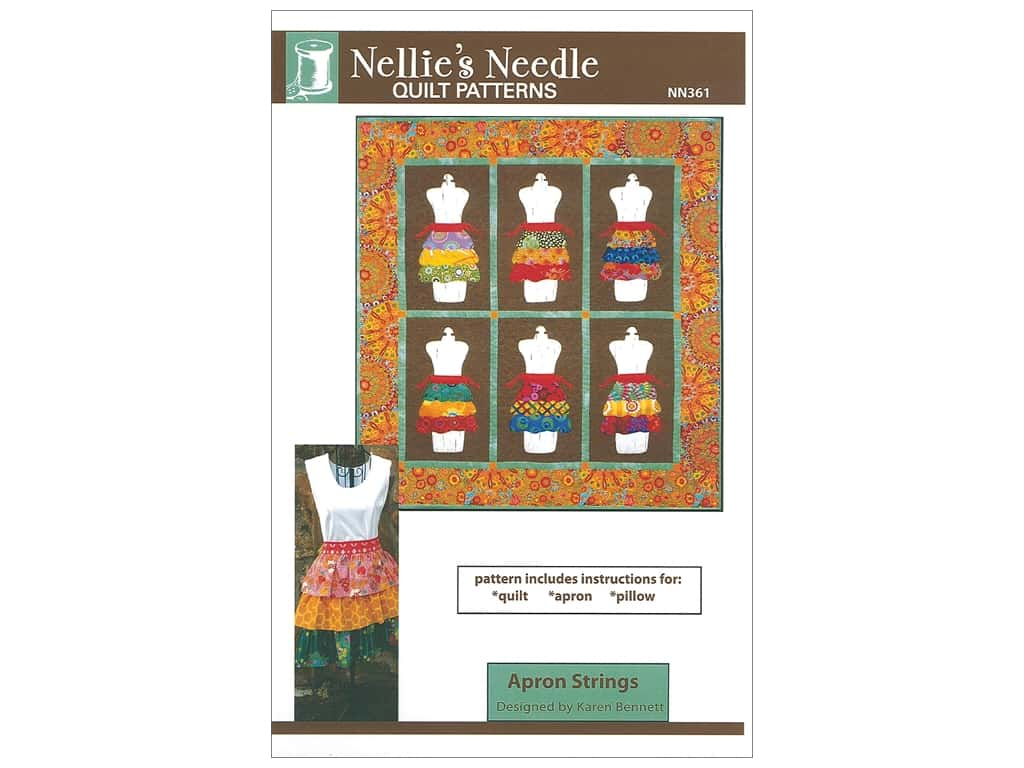 Nellie's Needle Apron Strings Pattern
