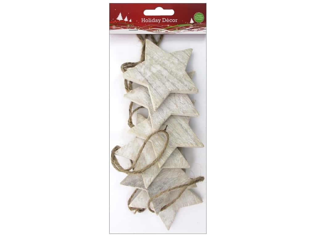 Sierra Pacific Crafts Ornament Star With Jute Rope Natural 6 pc