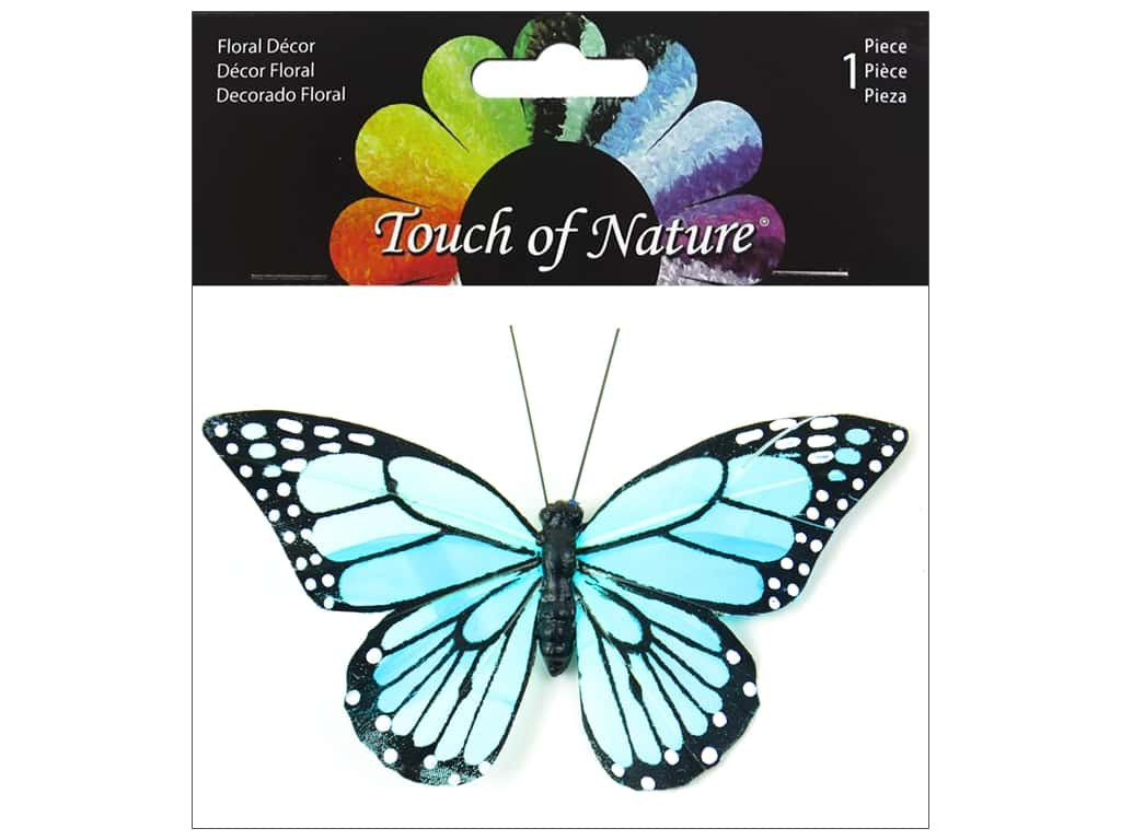Midwest Design Butterfly 4.5 in. Monarch With Clip Aqua