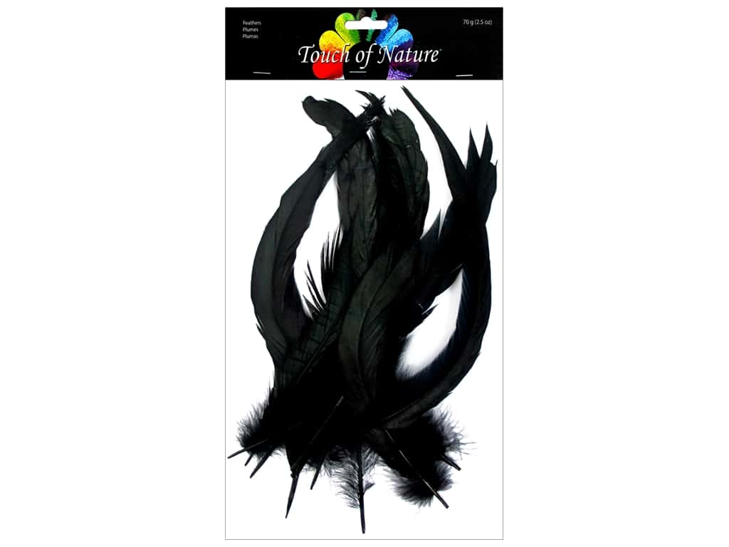 """Midwest Design Feather Cocktail Loose 10""""-12"""" Black .14oz"""