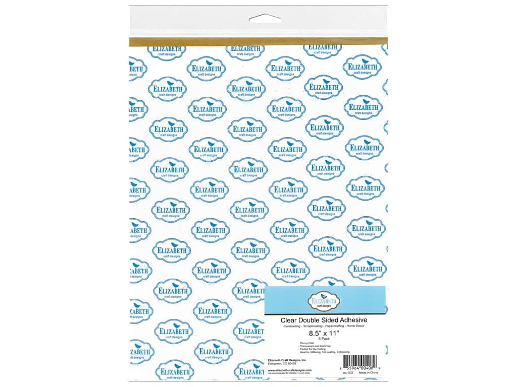 Elizabeth Craft Adhesive Double Side 8 1/2 x 11 in. Transparent 5 pc.