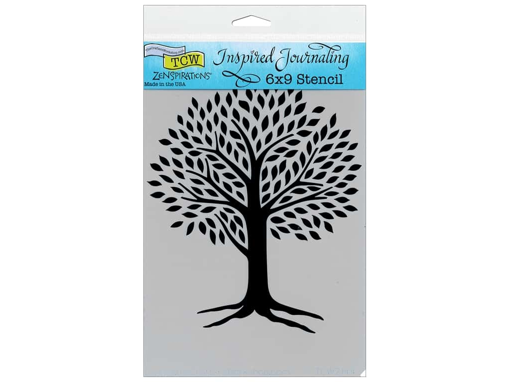 The Crafter's Workshop Template 6 x 9 in. Zenspirations Tree Of Life