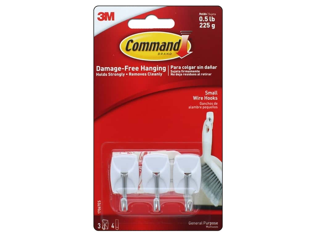 Command Adhesive Hook Wire Small 3pc