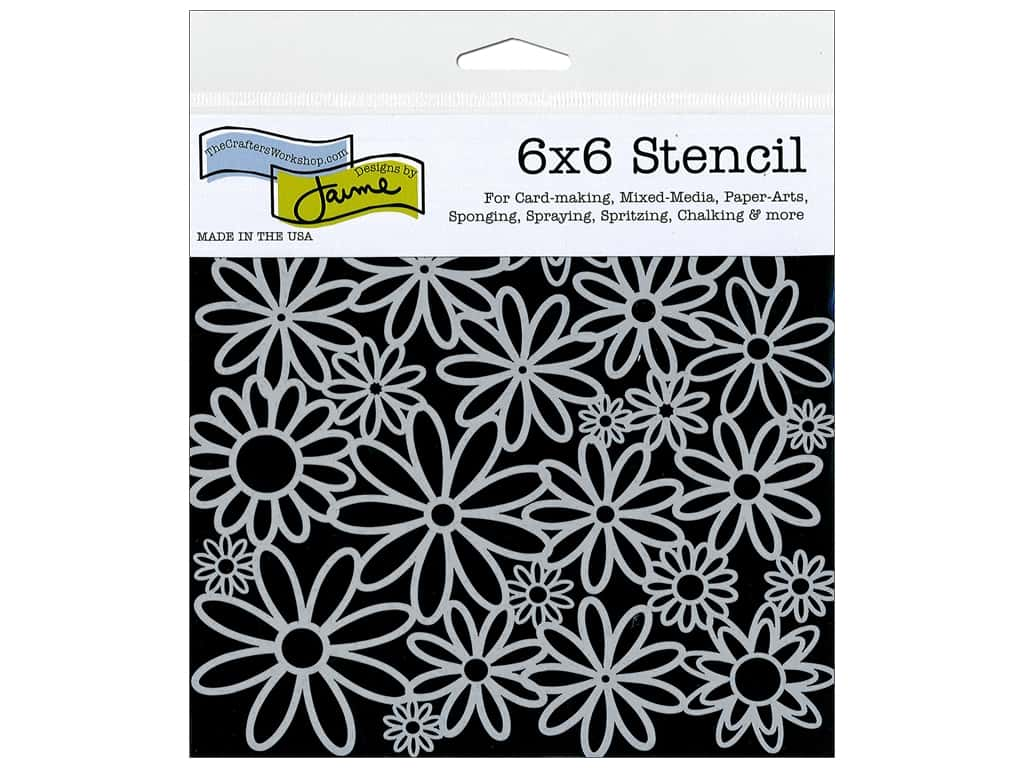 The Crafter's Workshop Template 6 x 6 in. Daisy Cluster