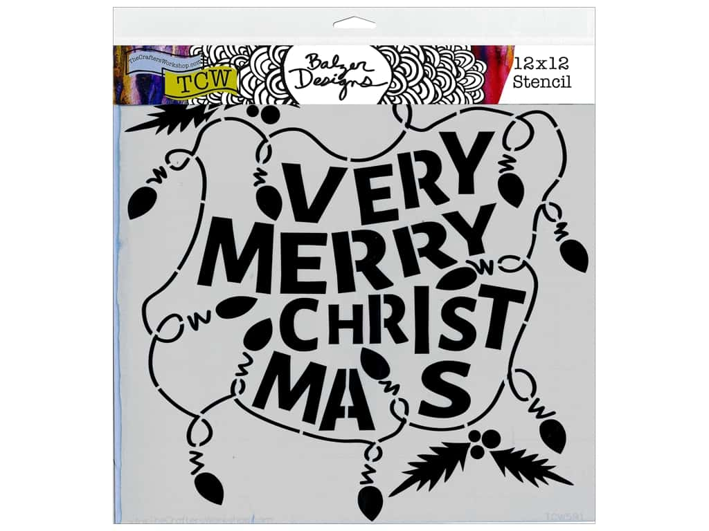 The Crafter's Workshop Template 12 x 12 in. Balzer Designs Christmas Lights