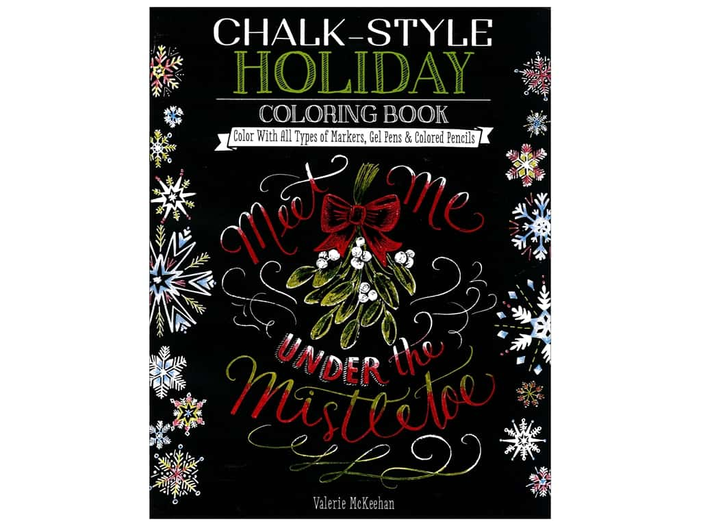 Design Originals Chalk-Style Holiday Coloring Book