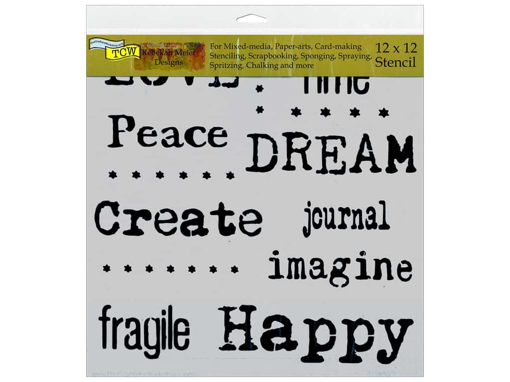 The Crafter's Workshop Template 12 x 12 in. Word Association