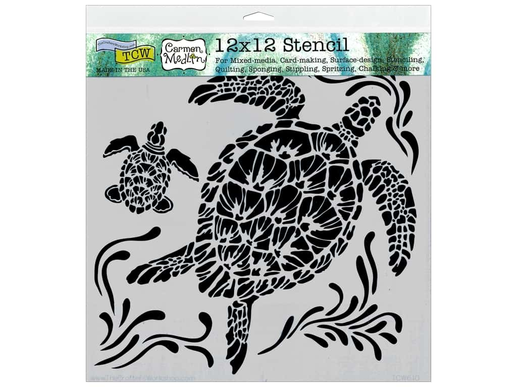 The Crafter's Workshop Template 12 x 12 in. Sea Turtles