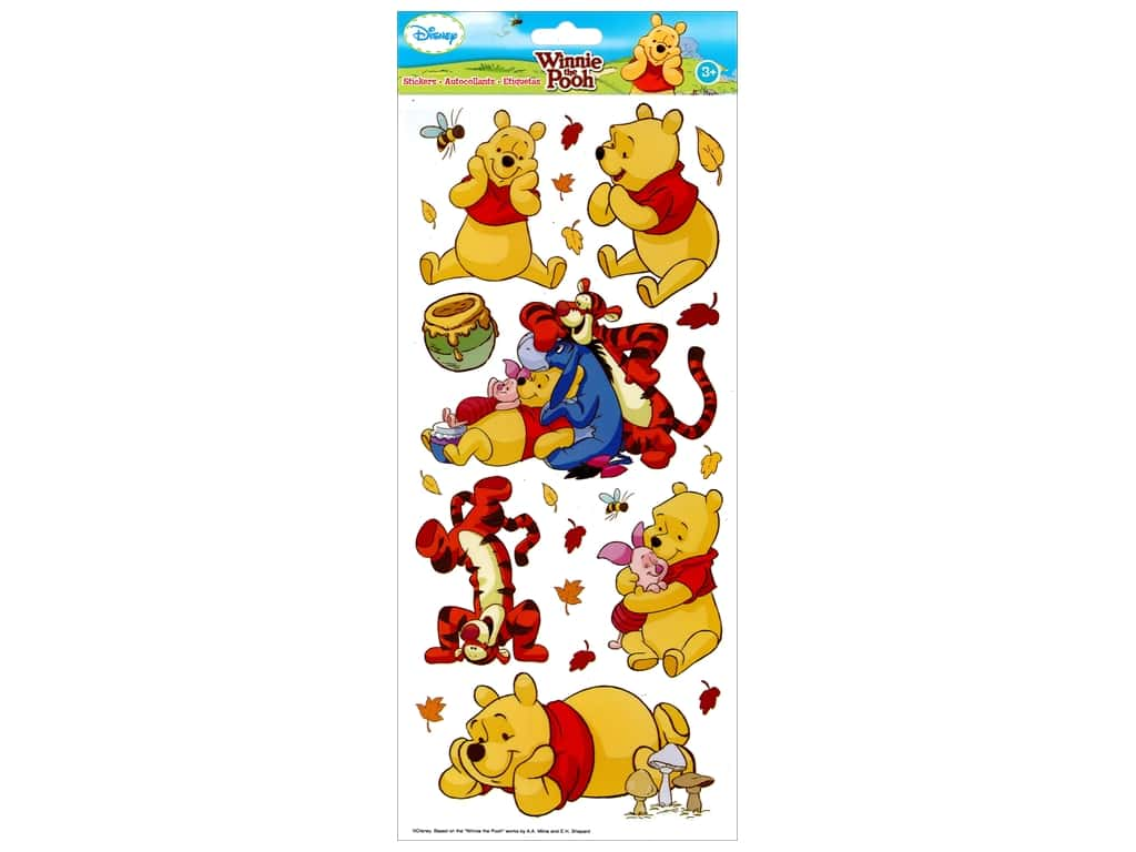 EK Disney Sticker Pooh Large