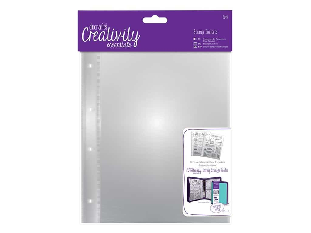 Docrafts Creativity Essentials Clear Stamp Pockets A5 6pc