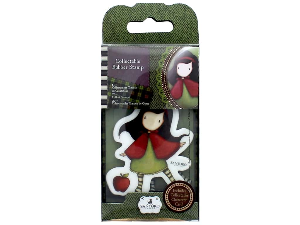 Santoro Gorjuss Collectable Rubber Stamp No. 14 Little Red