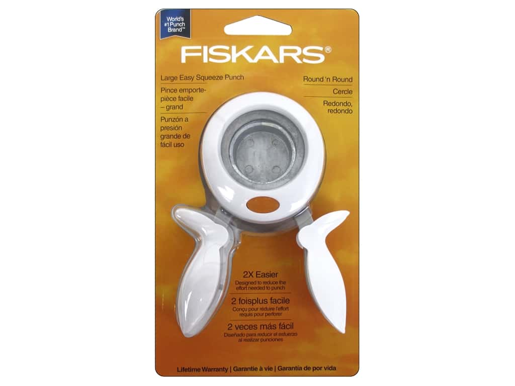 Fiskars Squeeze Punch Large Round 'n Round 1 1/2 in.