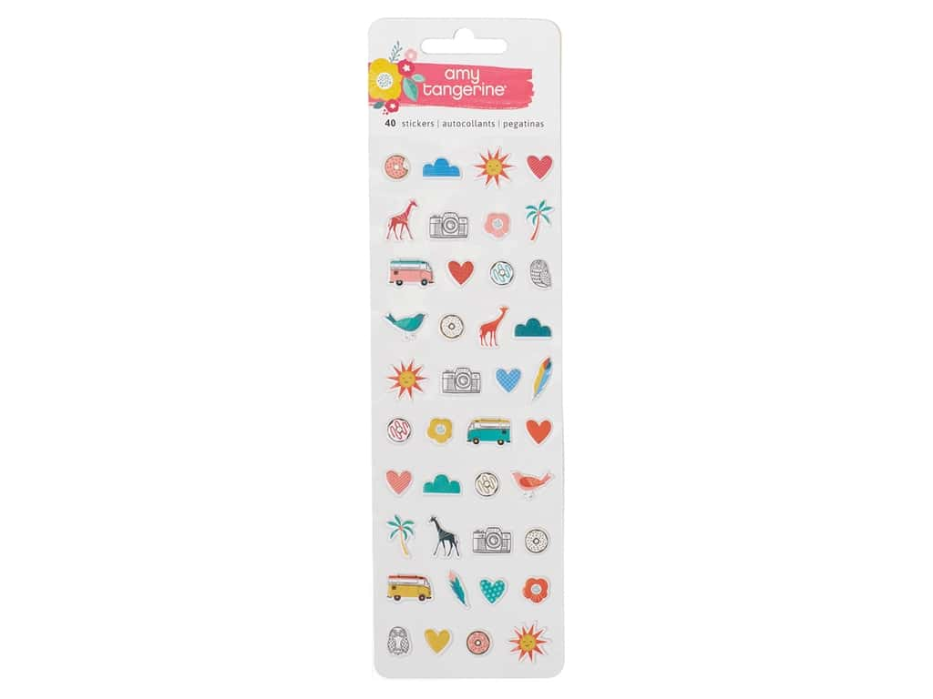 American Crafts Collection Amy Tangerine Oh Happy Life Sticker Puffy Mini Icon