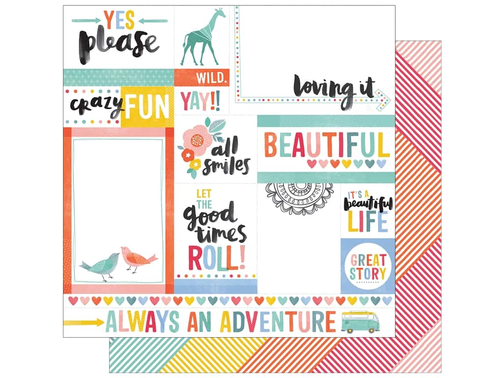 American Crafts 12 x 12 in. Paper Oh Happy Life Yes Please (25 sheets)