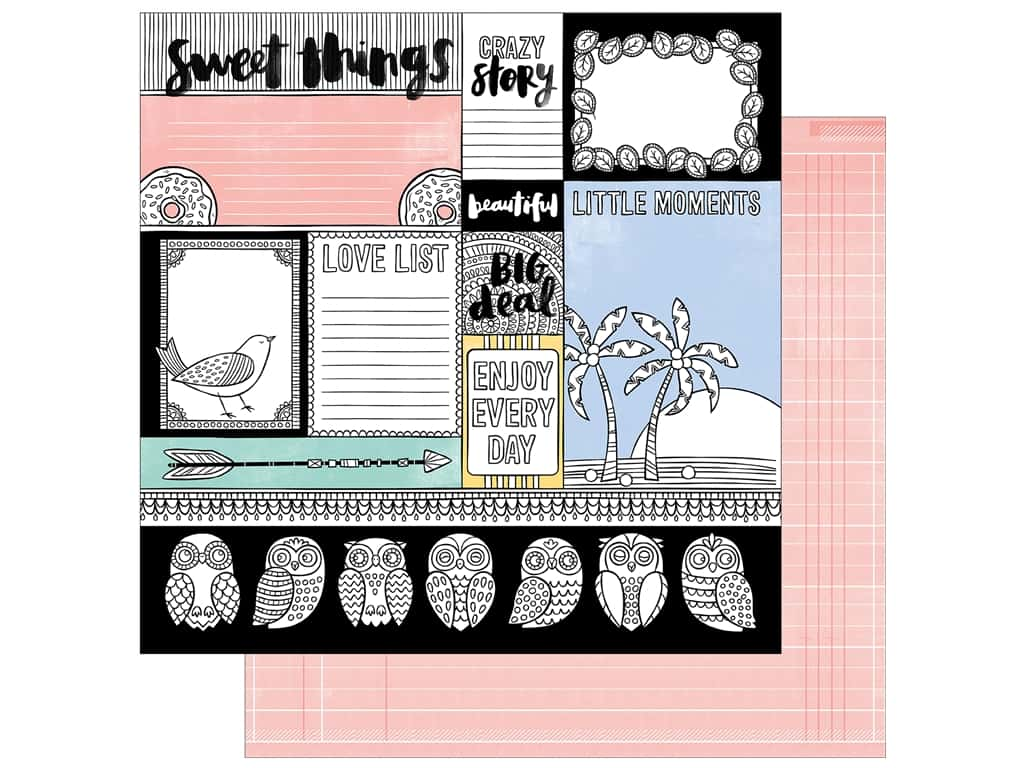 American Crafts 12 x 12 in. Paper Oh Happy Life Big Deal (25 sheets)