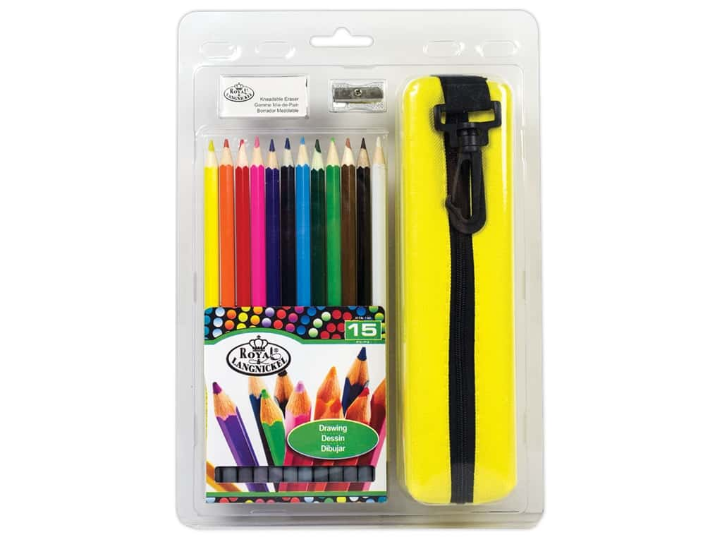 Royal Drawing Pencils with Case