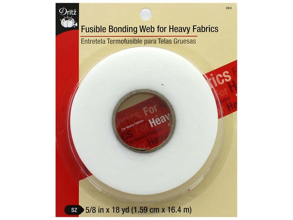 "Dritz Fusible Bonding Web For Heavy Fabrics 5/8""x 18yd White"