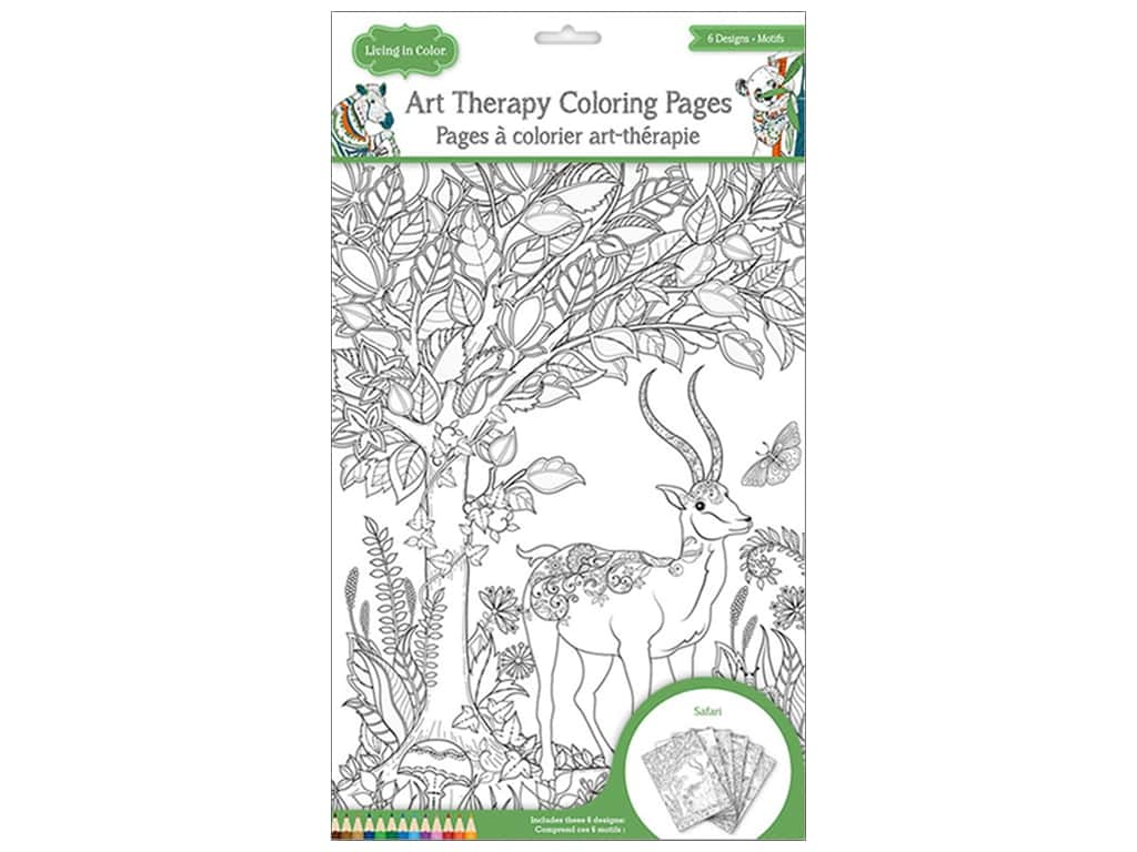 Multicraft Living In Color Art Therapy Color Pages Safari