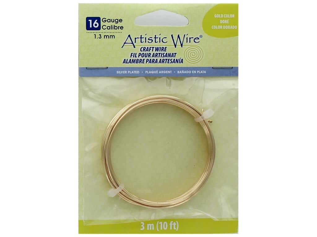 Artistic Wire 16 ga. Copper Wire 10 ft. Silver Plated Gold