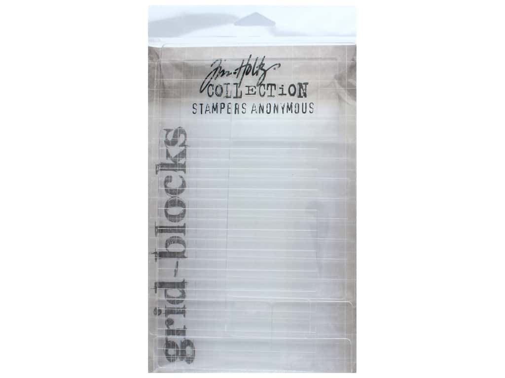 Stampers Anonymous Grid Block Set Tim Holtz 9 pc
