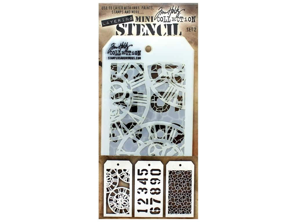 Stampers Anonymous Tim Holtz Layering Mini Stencil Set #2