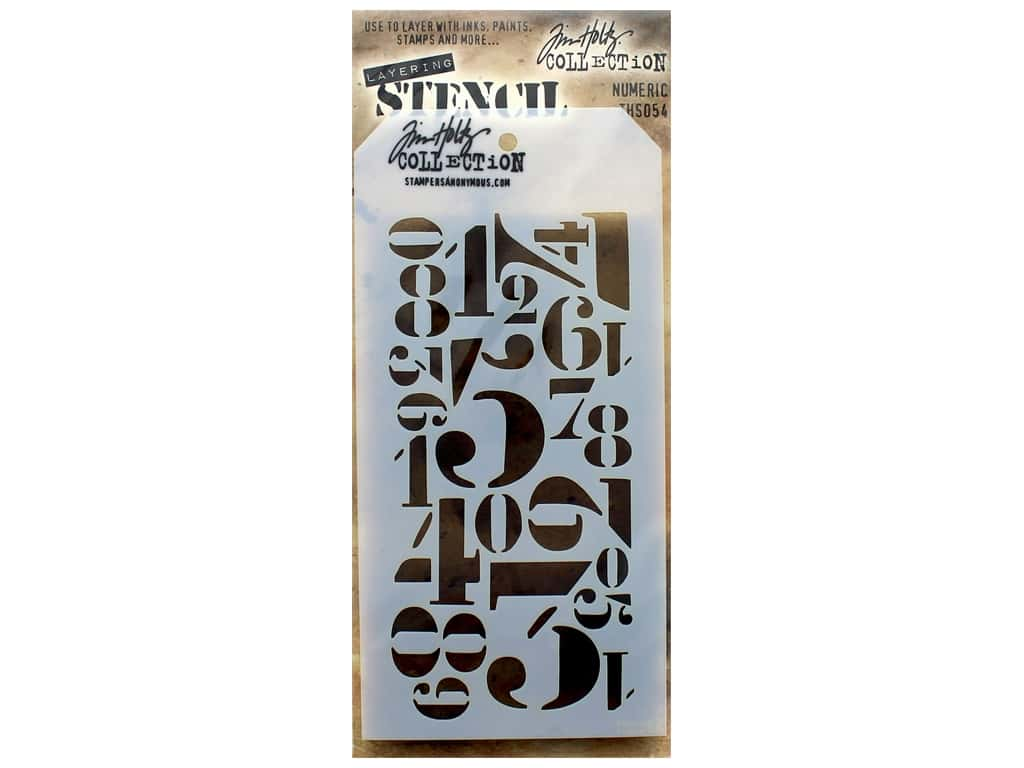 Stampers Anonymous Tim Holtz Layering Stencil - Numeric