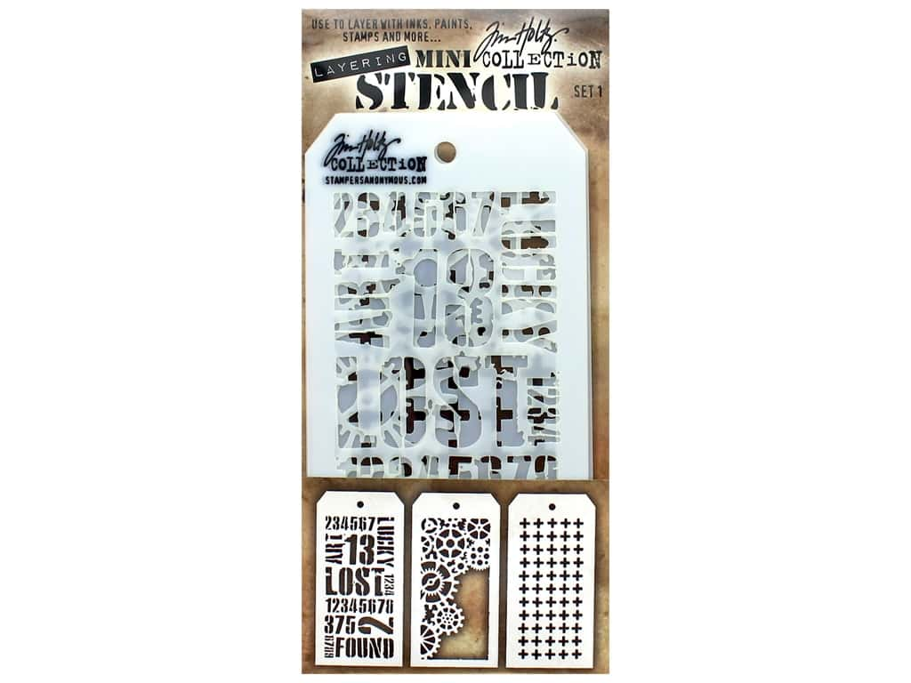 Tim Holtz Layering Stencil Set Mini #1