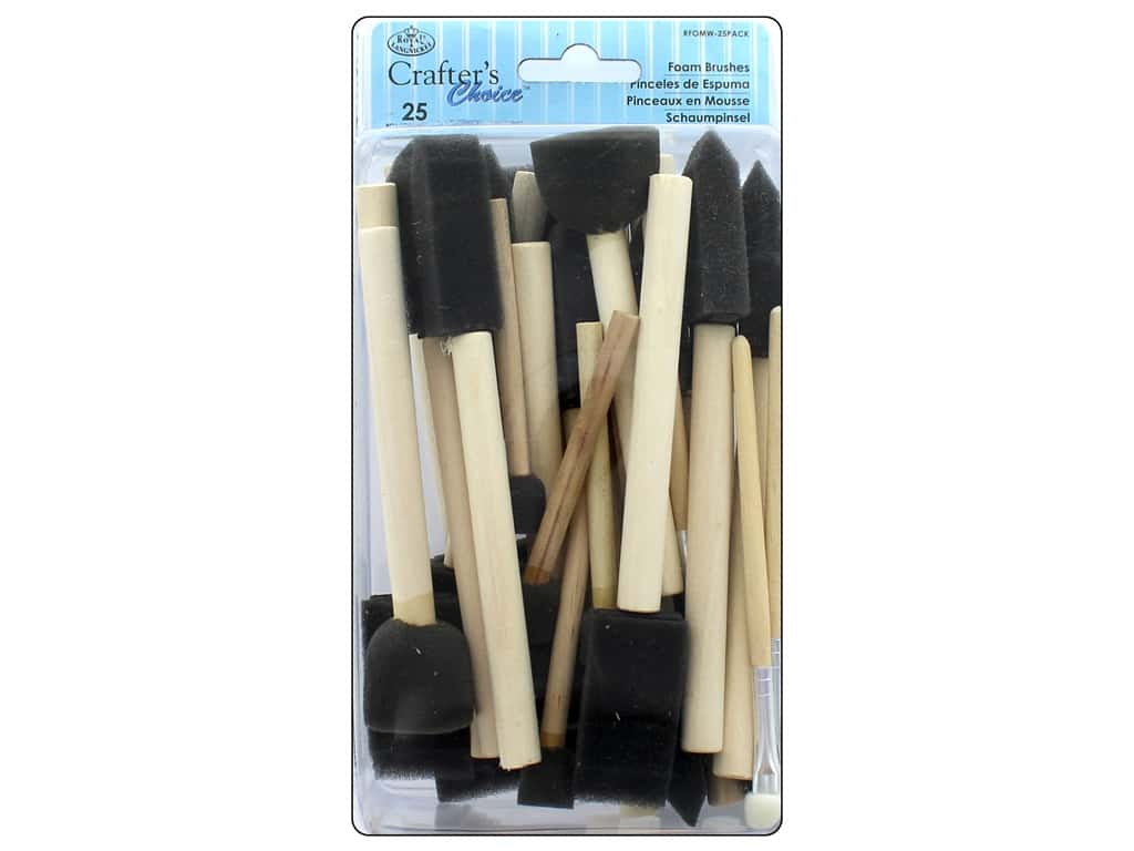 Royal Crafter's Choice Foam Brush Set 25 pc. Assorted