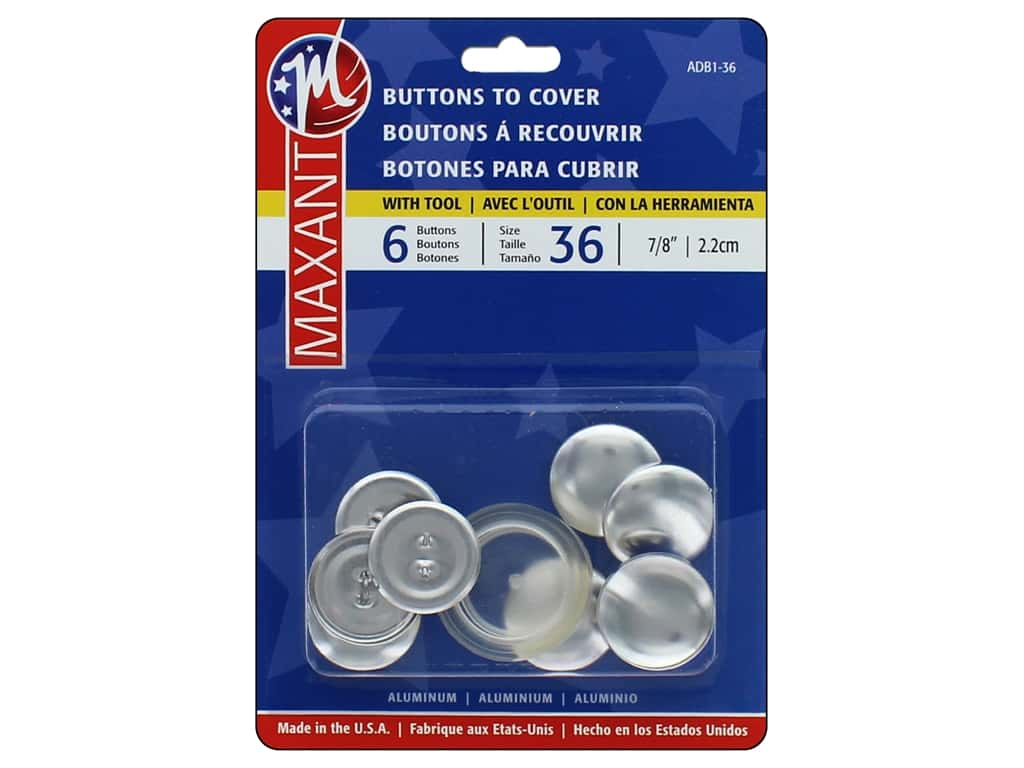 Maxant Cover Button Kit 7/8 in. 6 pc.