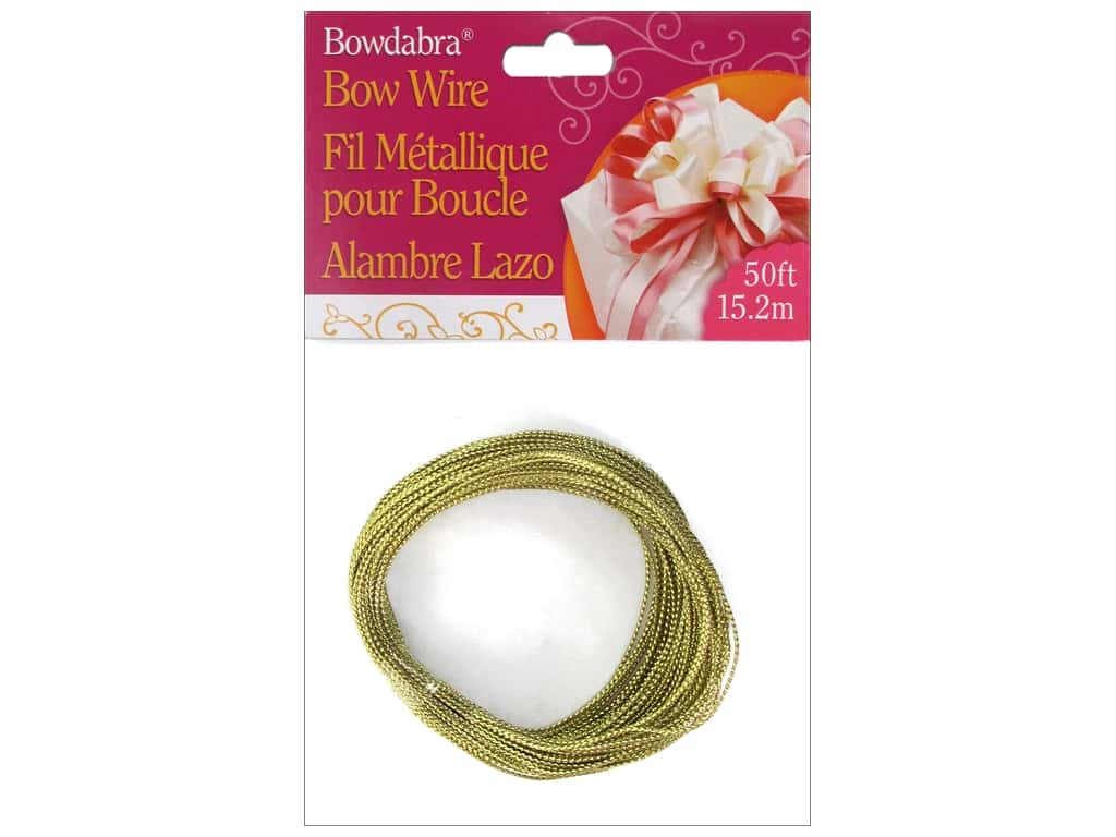 Darice Bowdabra Bow Wire 50 ft. Gold
