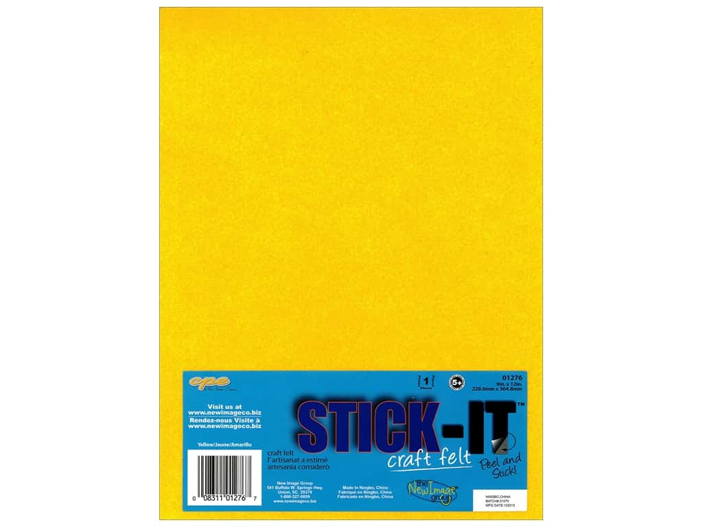 CPE Stick-It Felt 9 x 12 in. Yellow