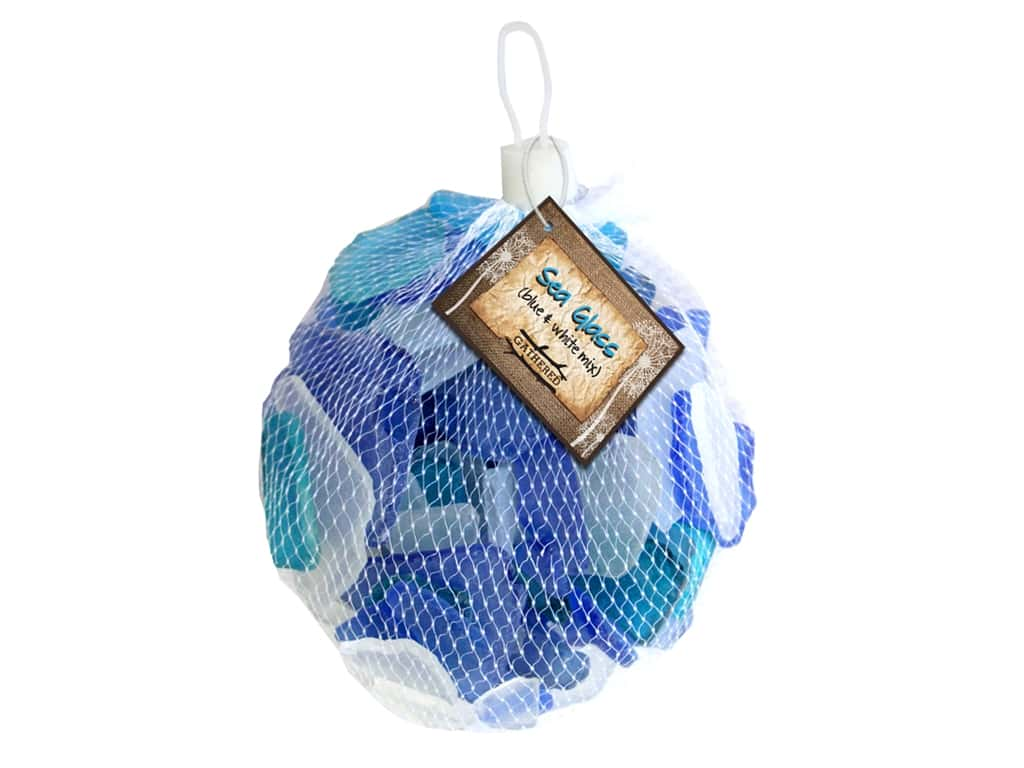 BCI Crafts Gathered Sea Glass Mix Blue & White