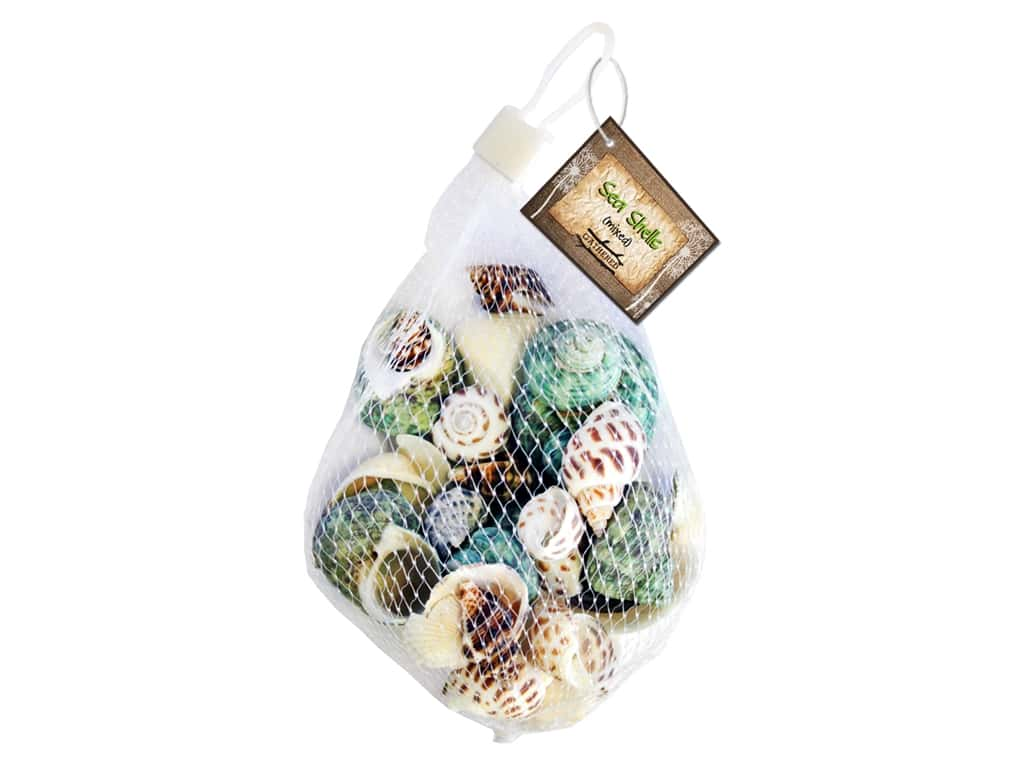 BCI Crafts Gathered Sea Shells Bag Mixed