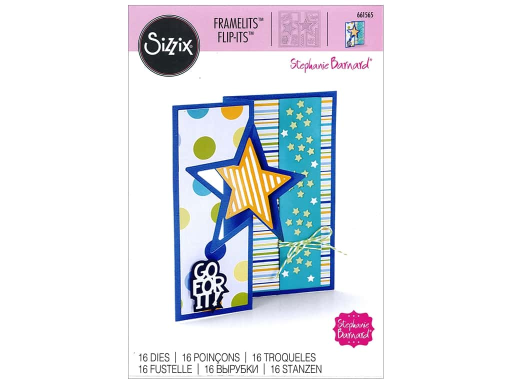 Sizzix Dies Stephanie Barnard Framelits Card Flip Its Star